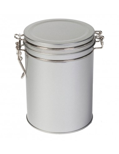 Round tea can 200 Grs. silver